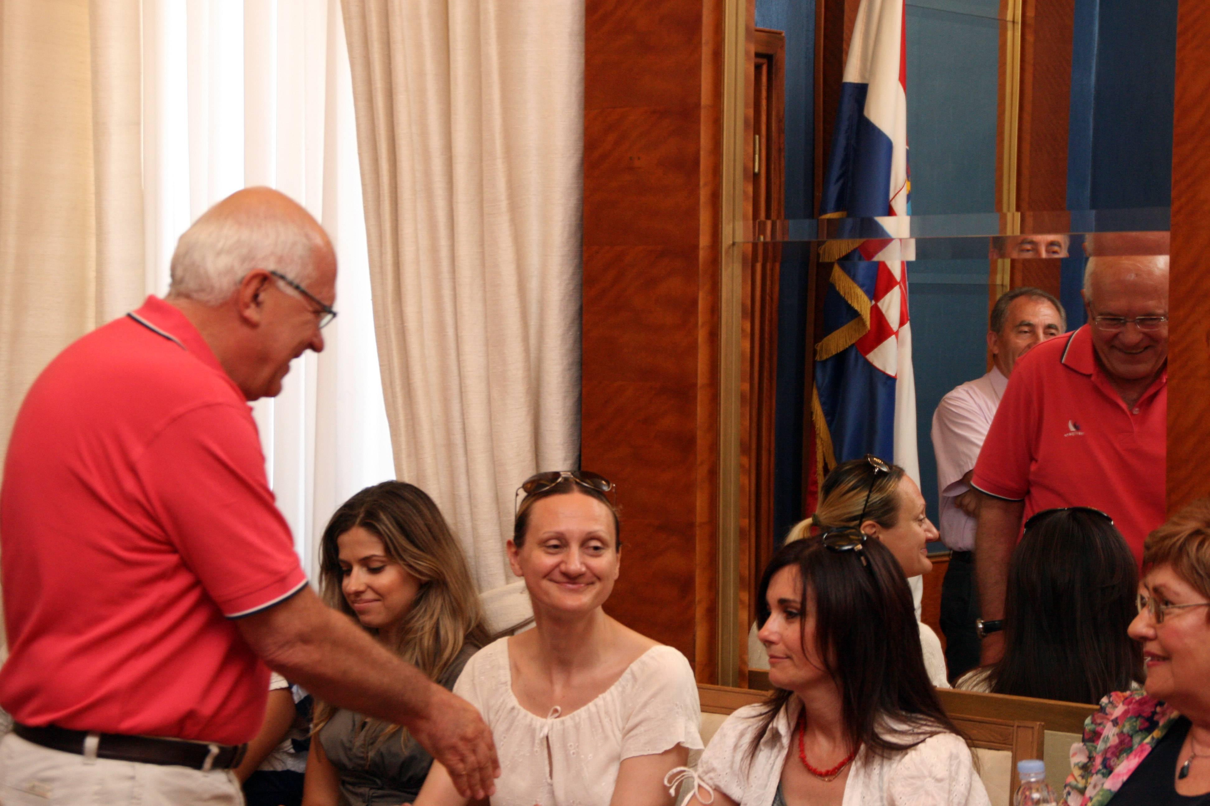 Primanje volontera Gradske knjižnice Zadar u Gradskoj vijećnici
