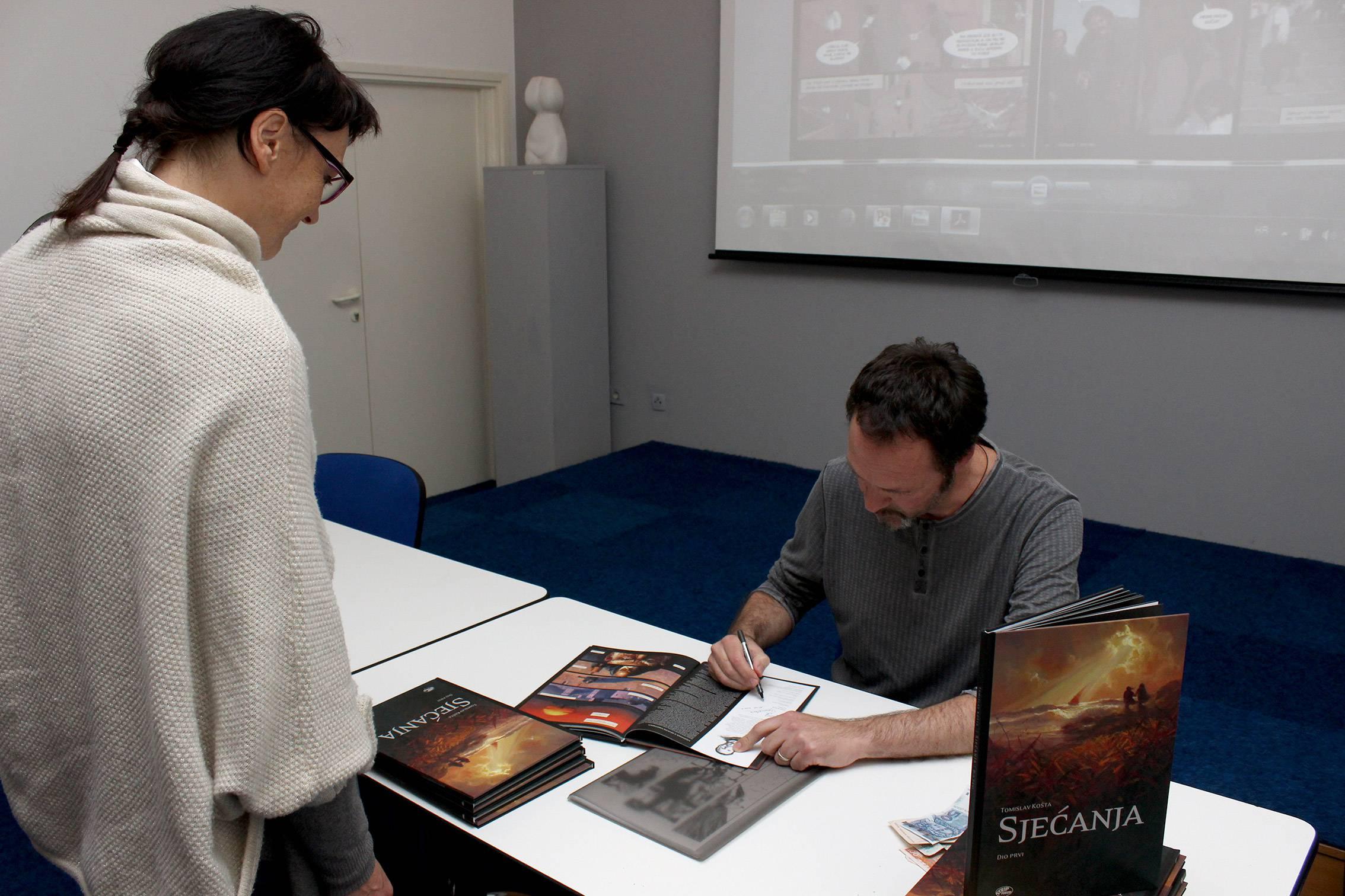 Predstavljanje strip albuma Sjećanja autora Tomislava Košte