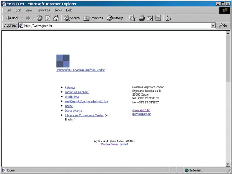 www.gkzd.hr 1999. godine