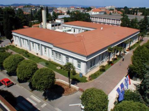 Gradska knjižnica Zadar - pogled iz zraka
