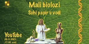 Mali biolozi - Suhi papir u vodi